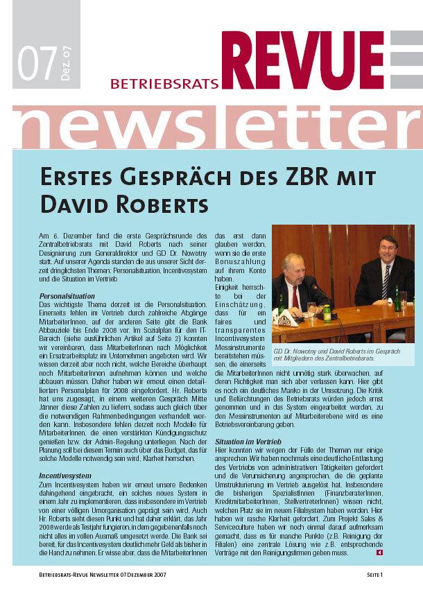 betriebsrats revue newsletter 2007 12 betriebsrat bawag psk